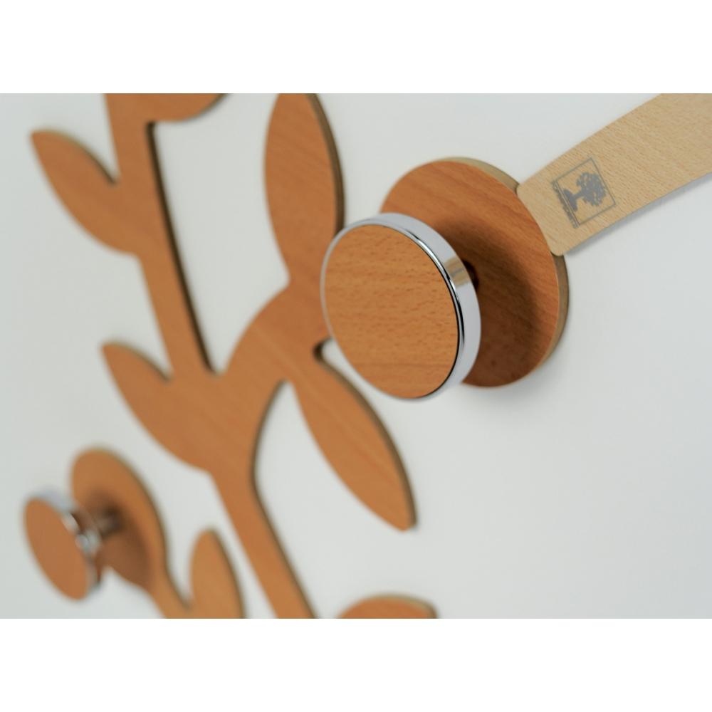 Modulo appendiabiti a parete con pomoli
