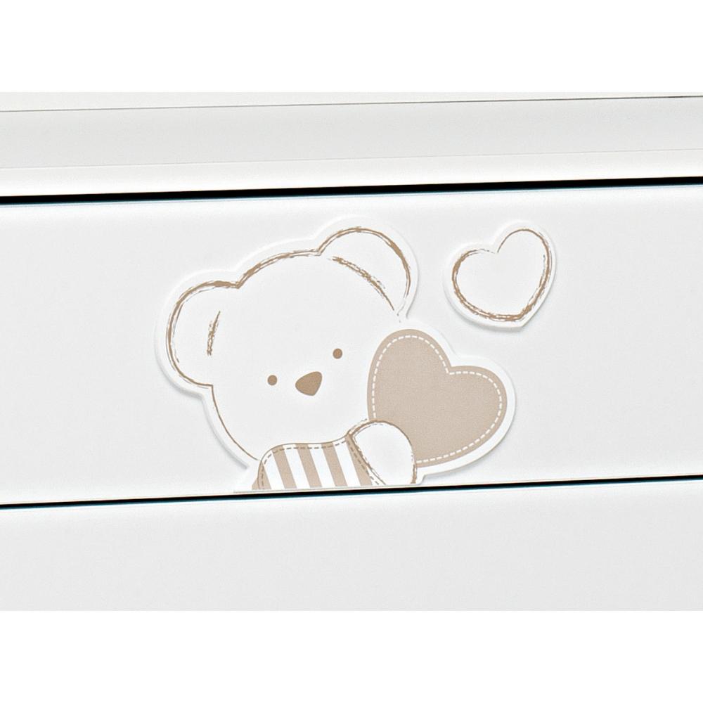Un dolcissimo orsetto decora la cassettiera Dolcecuore