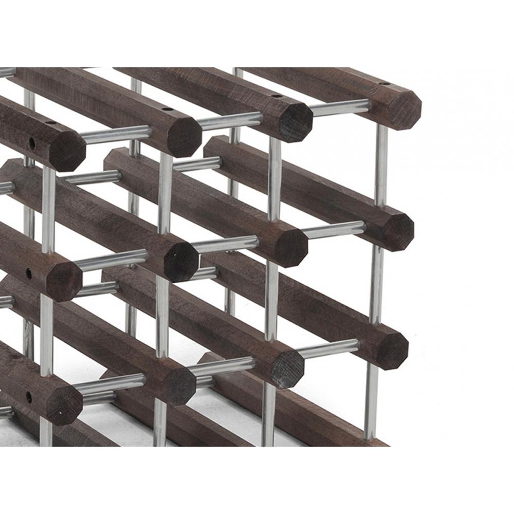Struttura in legno massiccio e spinotti in alluminio
