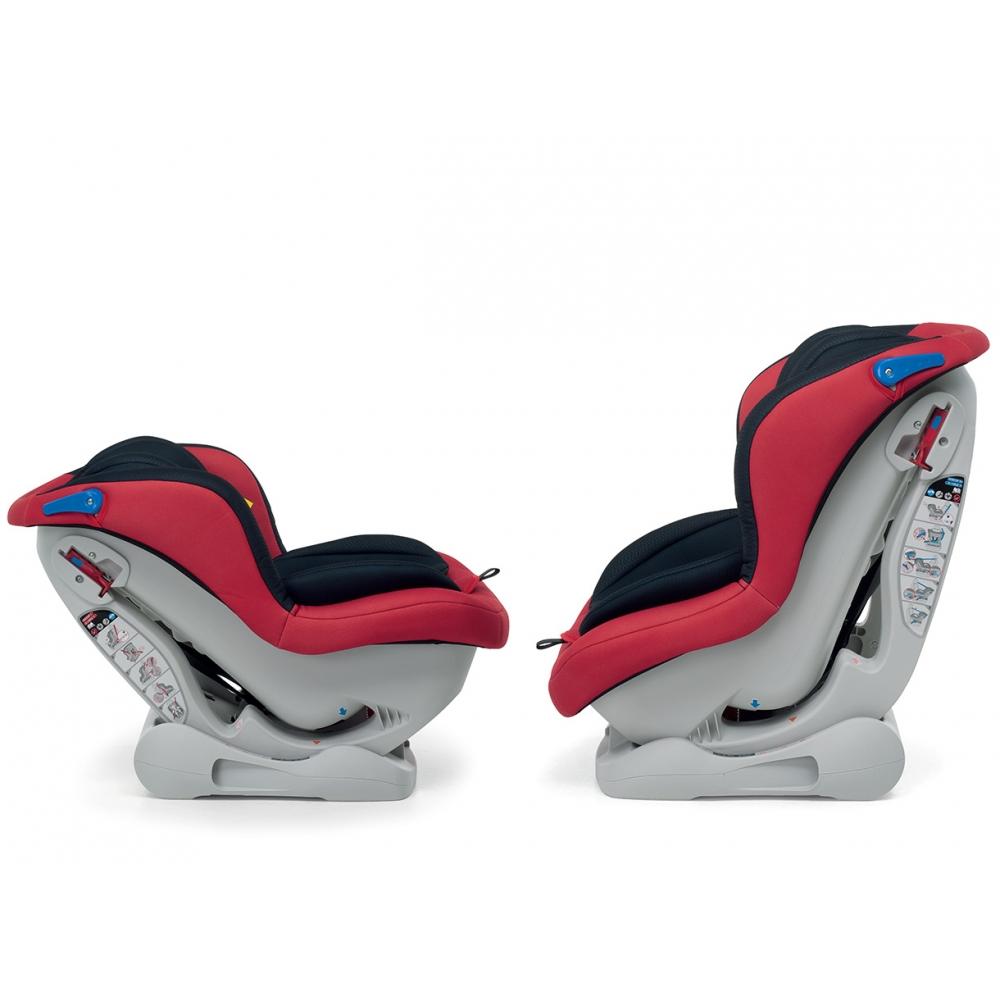 Seduta reclinabile in 3 posizioni (per il gruppo 1), con posizione extra comfort per il gruppo 0+